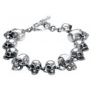 etNox Premium Totenkopf Armband-silberfarben Onesize Herren