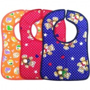 Premium quality Velcro Bibs/apron/Smock Combo Pack of 3. (Color/ Design/ Print may slightly vary as per availability)