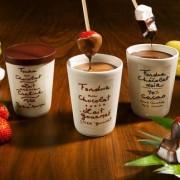 Aux Anysetiers du Roy Schokoladenfondue, Chocolat Milk Praliné, im Steingut-Topf, 2er Set, je 200 g
