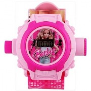 Barbie Digital Pink Projector 24 Different Images with Cute Kitty 24 image Toy Kids watch for girls Good Gift for your gift- Great Discount