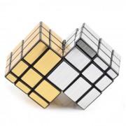 Irregular tuning spring skewb espejo cubo magico - oro + plata