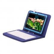 Husa Tableta 8 Inch Cu Tastatura Micro Usb Model X , Albastru , Tip Mapa