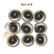 Stainless Steel Directional Magnetic Compass for Kids by RGFK - Pack of 9