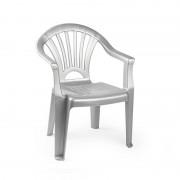 Forte Plastics Kinderstoelen zilver kunststof 35 x 28 x 50 cm