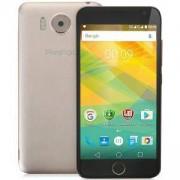 Смартфон Prestigio GRACE R7, 5.0 инча, HD IPS 2.5D, Dual SIM, Android 6.0, Quad-Core 1.3GHz, 16GB eMMC, 2.0GB RAM, Златист, PSP7501DUOGOLD