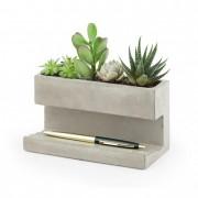 Nagy méretű design beton kaspó és tolltartó