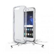 Калъф за Huawei P10 Plus, страничен протектор с гръб, гумен, Cellular Line Clear Duo, прозрачен
