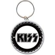 """Breloc chei (pandantiv) KISS """"Buzz Saw Logo"""" KISSKEY05 ROCK OFF"""