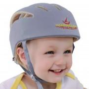 EB Cascos De Seguridad Bebé Lactante Algodón Hat Hat Crashproof PROTECTOR PROTECTOR DE CABEZA - Gris