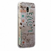 Husa Silicon Transparent Slim I Love You Huawei Honor 5X GR5
