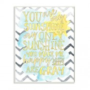 """The Kids Room By Stupell """"You Are My Sunshine Watercolors Chevron"""" Wall Plaque Art"""