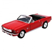 Motormax American Classics 1964 1/2 Ford Mustang Convertible 1/24 Scale Diecast Model Car Red