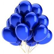 Solid Round Dark Blue Balloon (Pack of 15 Pcs)