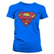 Superman Washed Shield Girly T-Shirt