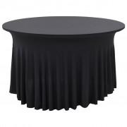 vidaXL Nappes élastiques de table avec jupon 2 pcs 180x74cm Anthracite