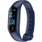 Lenkewi M3 Blue Smart Band / Smart Bracelet with Blood Pressure Heart Rate Monitoring Water proof feature