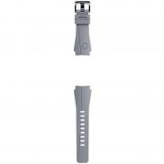 Curea SmartWatch Arik Levy Eclipse pentru Gear S3, Silicon, Argintiu