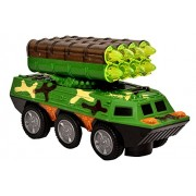 Toyshine Musical Tank Toy with Missle Launcher, Bump and Go Action, 3D Lights, Music