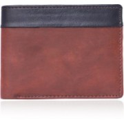 LongTree Men Casual Brown, Black Artificial Leather Wallet(4 Card Slots)