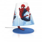 PHILIPS 71764/40/16   Spiderman Philips stona lampa 24cm sa prekidačem na kablu 1x LED 270lm 2700K plavo, višebojno