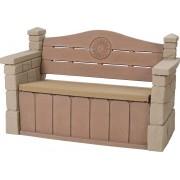 STEP2 Outdoor Storage Bench - Opbergbank - 140L opbergruimte - 46 x 122 x 30 cm