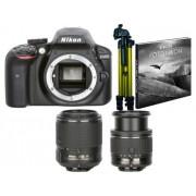 Nikon Kit Máquina Fotográfica Reflex D3400 + FP DX 18-55 + 55-200 VRII (24.2 MP - Sensor: DX - ISO: 100 a 25600)