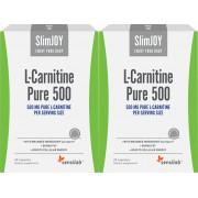 SlimJOY L-carnitina Pura 500 1+1 GRATIS - brucia grassi. Qualità svizzera. 2x 60 capsule