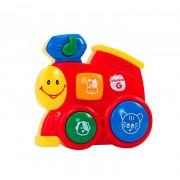 Jucarie muzicala cu sunete, model Locomotiva rosie, Globo Vitamina G, pentru copii
