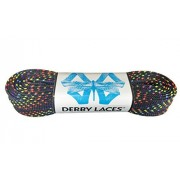 Rainbow 60 Inch Waxed Skate Lace - Derby Laces for Roller Derby, Hockey and Ice Skates, and Boots
