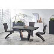 Bilotti bővíthető asztal, antracit 160-200/90/76 cm