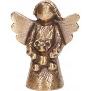 """Statueta bronz """"Ingeras cu ursulet"""""""