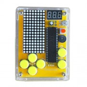 Etoput 5 in 1 DIY Game Kit Retro Classic Electronic Learning with Acrylic Shell for Tetris/Snake/Plane/Racing/Slot Machine