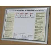 Indicator cu Semnul Plan evacuare + Rama click Best View