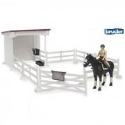 Bruder recinzione con cavallerizza cavallo sella e briglie