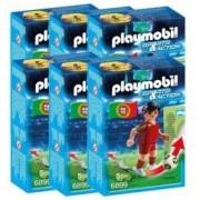 Playmobil Sports & Action : joueur de foot - Portugal - x6