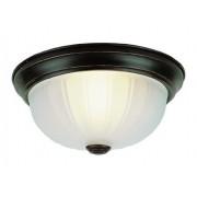 "Trans Globe Lighting 14010 ROB Interior Newbury 10"" Flushmount, aceite de bronce frotado"