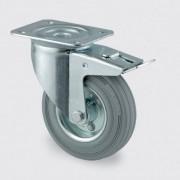 TENTE Transportní kolečko 100 mm, otočné s brzdou, šedá guma