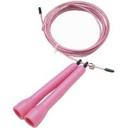 Da Vinci Super Fast Ultra Speed 10-Feet Adjustable Cable Jump Rope for Double Unders Pink