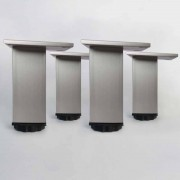 Distribain Lot de 4 pieds pour meubles carrés en 100 mm