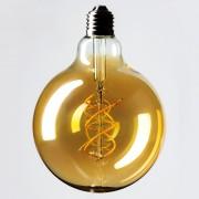 V-TAC - Curve Filament 5W G125 E27 Gold 2200K Extra Warm White