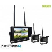 """Parkovací 7"""" LCD monitor s 2 WiFi kamerami as funkcí DVR"""