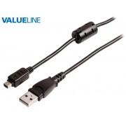 Valueline VLCP60805B20 USB dugó - 8pin Nikon miniUSB dugó D90, D3100, D3200, D5000, D7000 adatkábel 2m