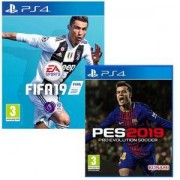 Игра FIFA 19 + Игра Pro Evolution Soccer 2019 за PlayStation 4 - PS4