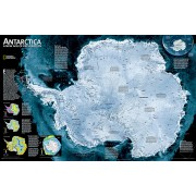 Wandkaart Antarctica Satellite Map, 78 x 50 cm | National Geographic