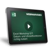 FRANZIS.de (ausgenommen sind Bücher und E-Books) Webinarvideo: Excel-Workshop 5/7 - Datum- und Uhrzeitfunktionen richtig nutzen
