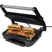 iBELL SM501 2 Slice 1500 Watt Panini Grill Sandwich Maker with Oil Tray Grill(Silver)