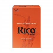 D'Addario Woodwinds RICO Baritone Sax 3 Box of 10 Reeds