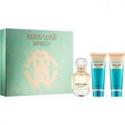 Roberto Cavalli Paradiso lote de regalo I. eau de parfum 75 ml + leche corporal 75 ml + gel de ducha 75 ml