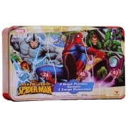 Spiderman Panorama Puzzle in a Tin