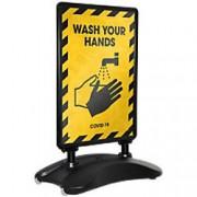 Stewart Superior Pavement Sign A1 Black 666 x 450 x 1,220 mm
